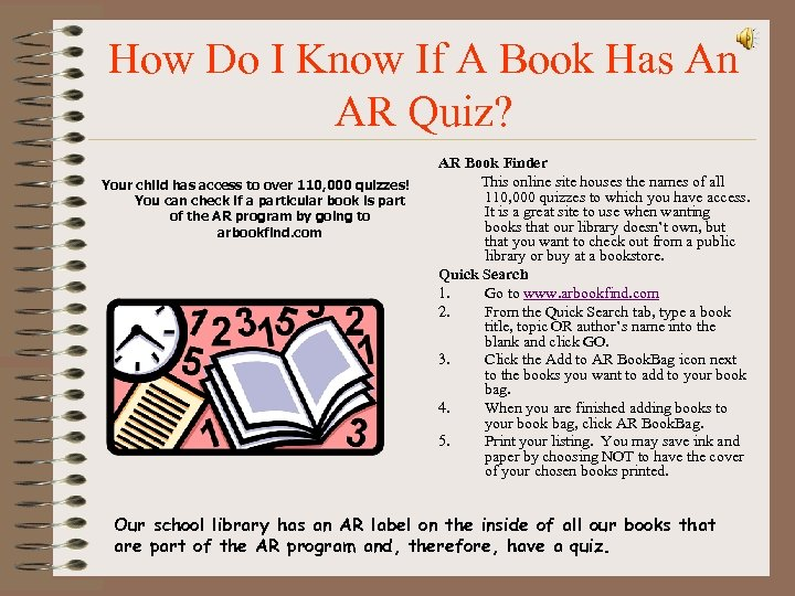 How Do I Know If A Book Has An AR Quiz? Your child has