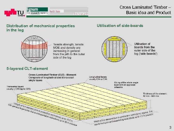 Cross Laminated Timber – Basic idea and Product Distribution of mechanical properties in the