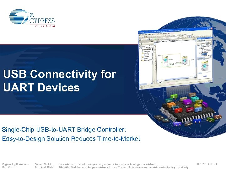 USB Connectivity for UART Devices Single-Chip USB-to-UART Bridge Controller: Easy-to-Design Solution Reduces Time-to-Market Engineering
