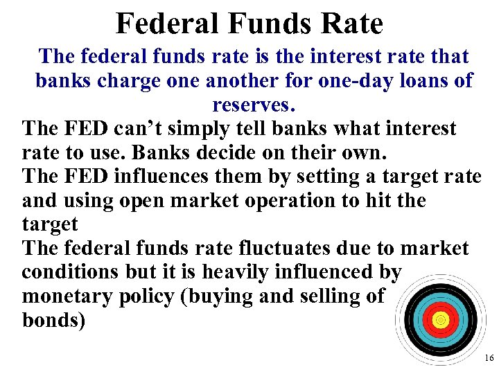 Federal Funds Rate The federal funds rate is the interest rate that banks charge