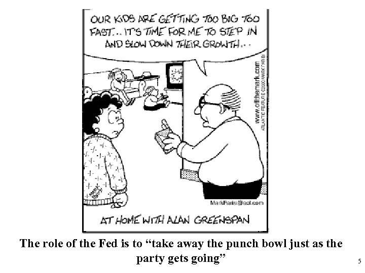 """The role of the Fed is to """"take away the punch bowl just as"""