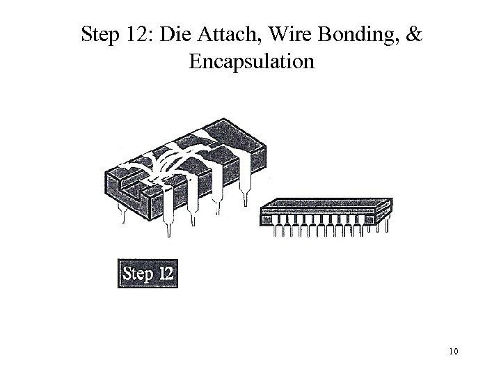 Step 12: Die Attach, Wire Bonding, & Encapsulation 10