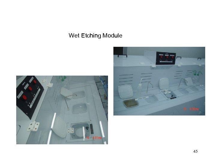 Wet Etching Module 45