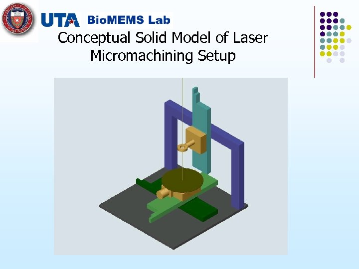 Conceptual Solid Model of Laser Micromachining Setup