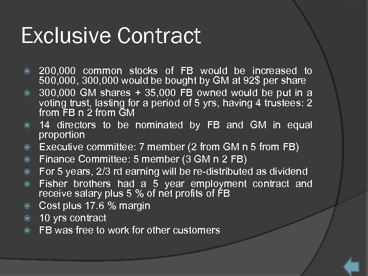 Exclusive Contract 200, 000 common stocks of FB would be increased to 500, 000,