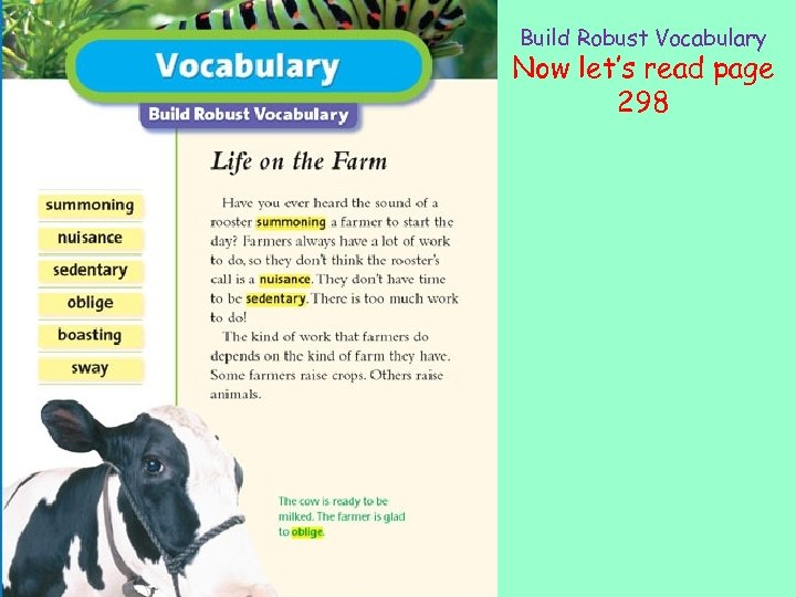 Build Robust Vocabulary Now let's read page 298