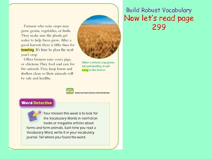 Build Robust Vocabulary Now let's read page 299