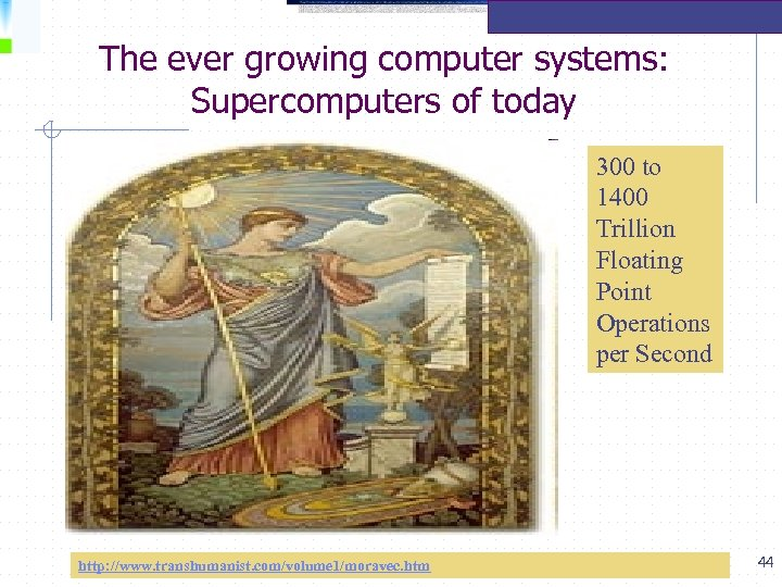The ever growing computer systems: Supercomputers of today 300 to 1400 Trillion Floating Point