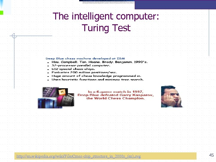 The intelligent computer: Turing Test http: //en. wikipedia. org/wiki/File: Cmos-chip_structure_in_2000 s_(en). svg 45