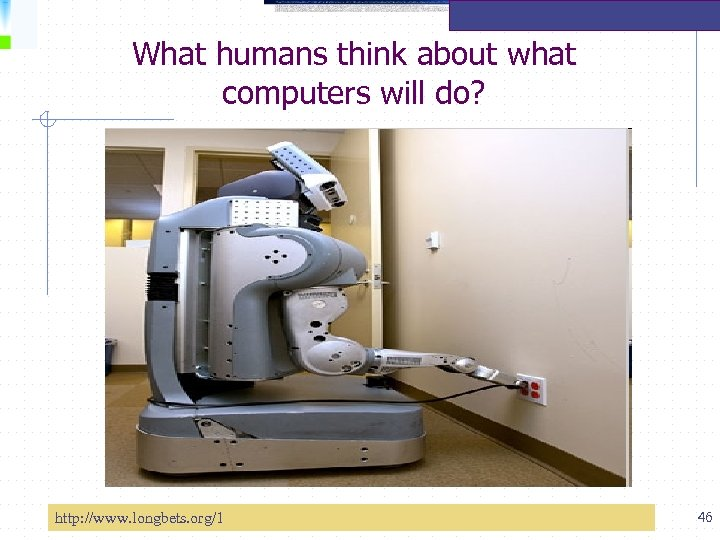 What humans think about what computers will do? http: //www. longbets. org/1 46