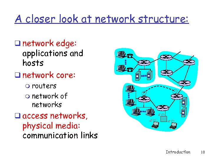A closer look at network structure: q network edge: applications and hosts q network