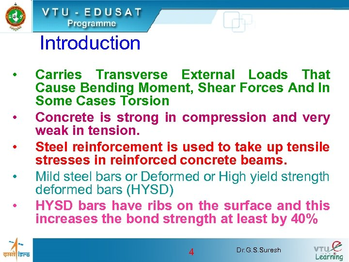 Introduction • • • Carries Transverse External Loads That Cause Bending Moment, Shear Forces