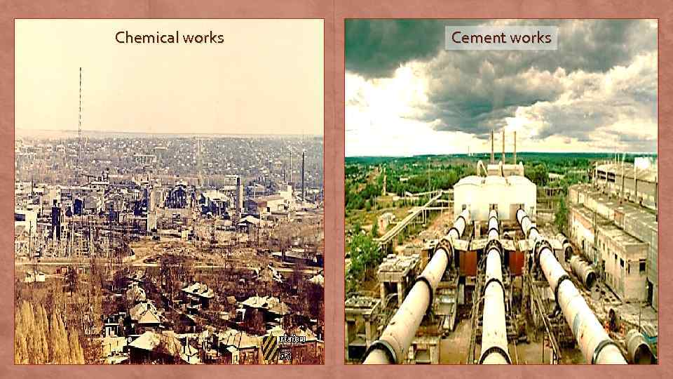 Chemical works Cement works