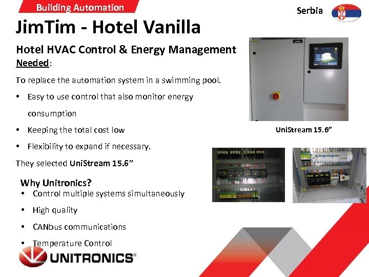 Building Automation Jim. Tim - Hotel Vanilla Serbia Hotel HVAC Control & Energy Management