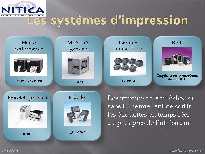 Les systèmes d'impression Haute performance ZM 400 & ZM 600 Bracelets patients HC 100