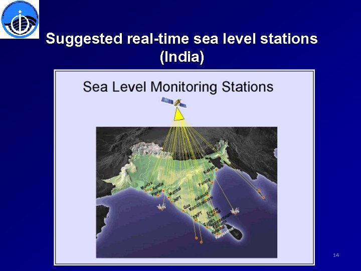 Suggested real-time sea level stations (India) 14