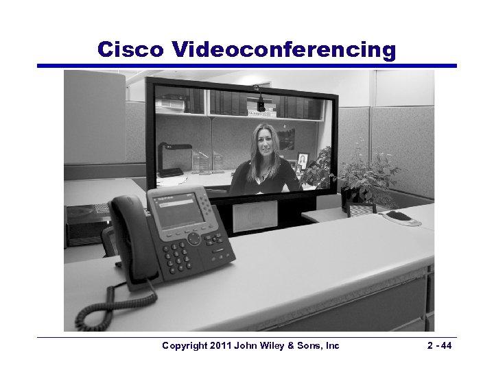 Cisco Videoconferencing Copyright 2011 John Wiley & Sons, Inc 2 - 44