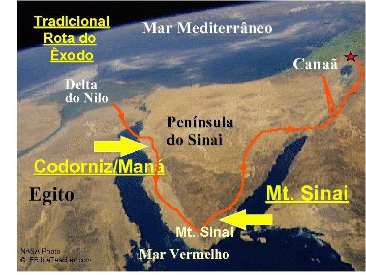 Mar Mediterrâneo Exodus Major Events Map Tradicional Rota do Êxodo Canaã Delta do Nilo