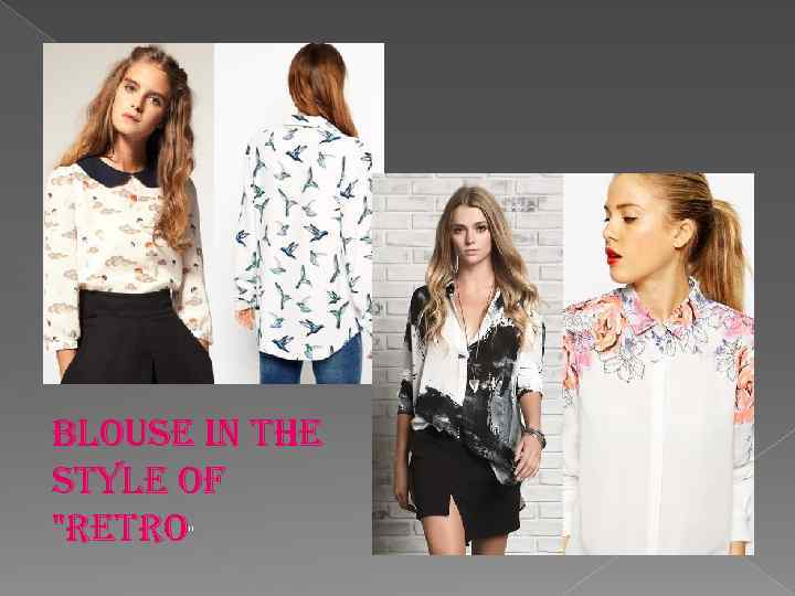 blouse in the style of