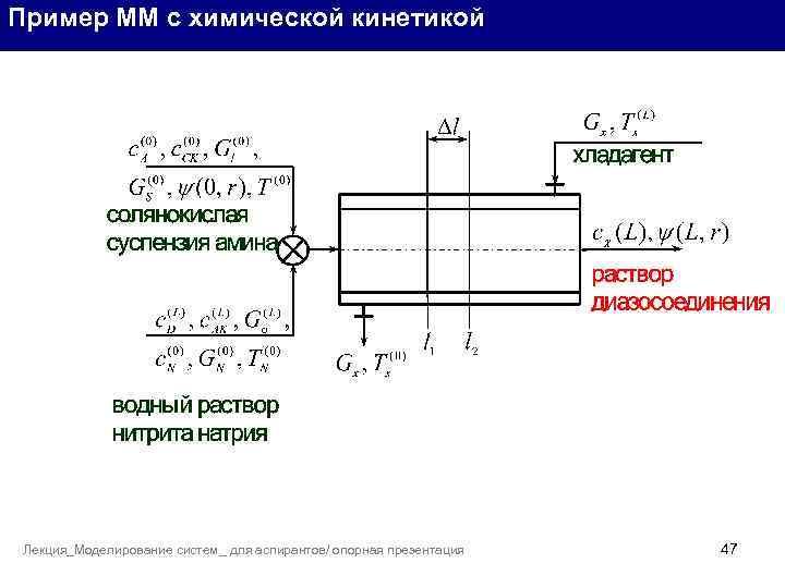 Пример ММ с химической кинетикой Лекция_Моделирование систем_ для аспирантов/ опорная презентация 47