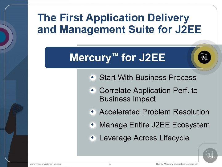 The First Application Delivery and Management Suite for J 2 EE Mercury™ for J
