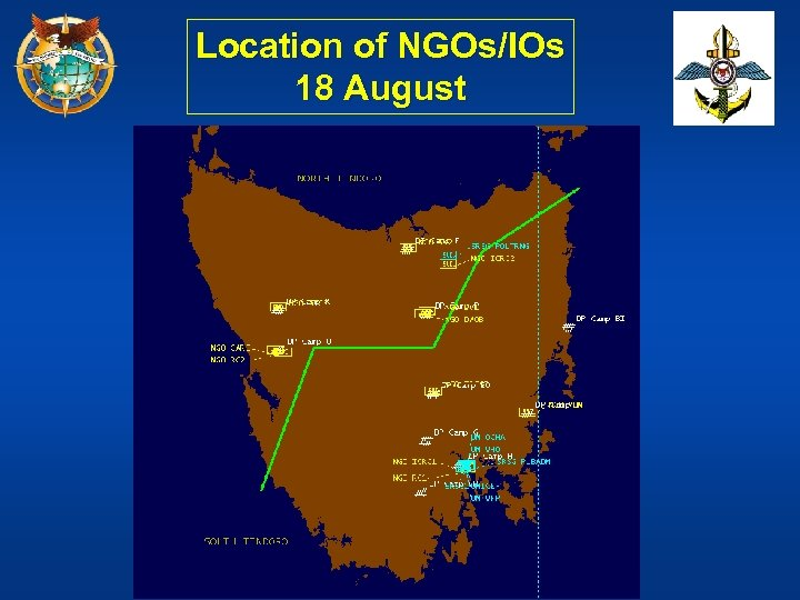 Location of NGOs/IOs 18 August