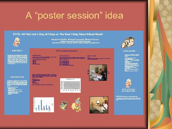 """A """"poster session"""" idea EFTS: All That and a Bag of Chips or The"""