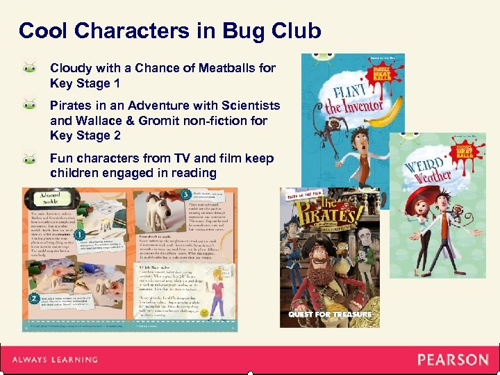 Cool Characters in Bug Club Cloudy with a Chance of Meatballs for Key Stage