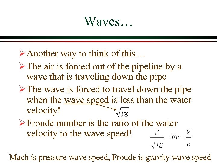Waves… Ø Another way to think of this… Ø The air is forced out