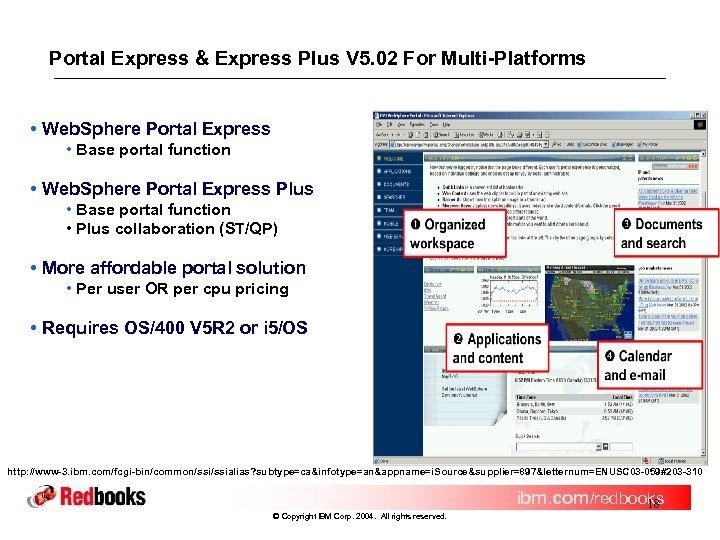 Portal Express & Express Plus V 5. 02 For Multi-Platforms • Web. Sphere Portal