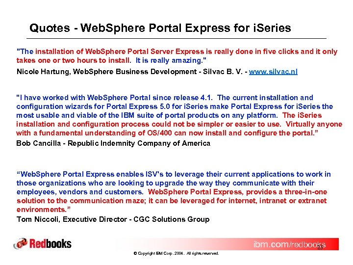 Quotes - Web. Sphere Portal Express for i. Series