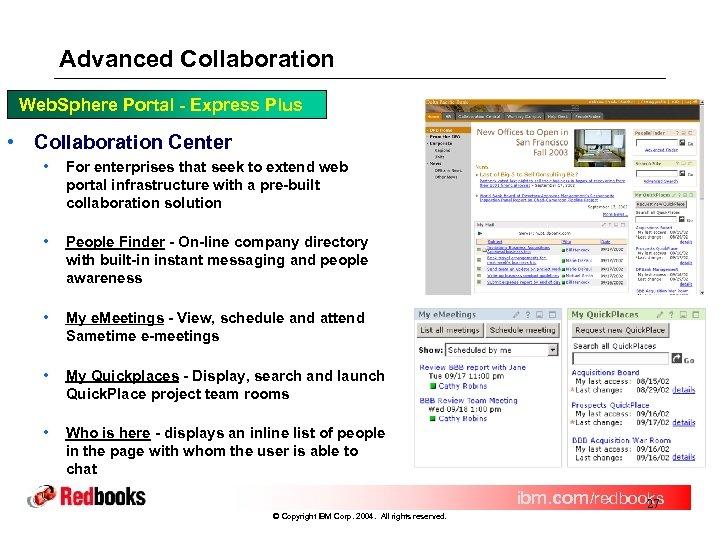 Advanced Collaboration Web. Sphere Portal - Express Plus • Collaboration Center • For enterprises