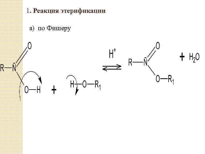 1. Реакция этерификации а) по Фишеру