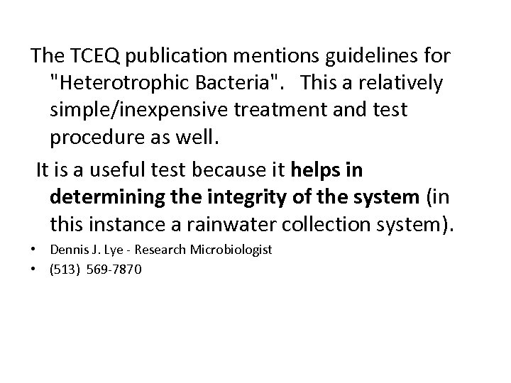 The TCEQ publication mentions guidelines for