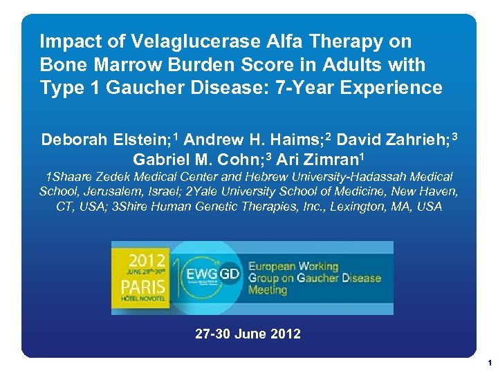 Impact of Velaglucerase Alfa Therapy on Bone Marrow Burden Score in Adults with Type