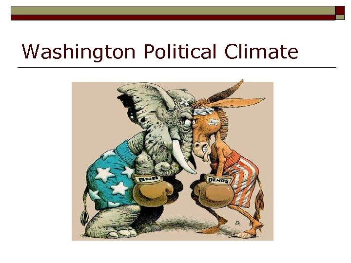 Washington Political Climate