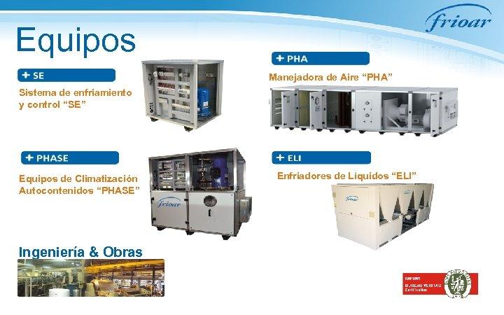 """Equipos Manejadora de Aire """"PHA"""" Sistema de enfriamiento y control """"SE"""" Equipos de Climatización"""