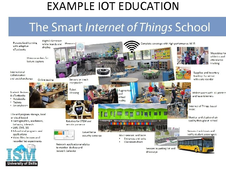 EXAMPLE IOT EDUCATION APPLICATIONS