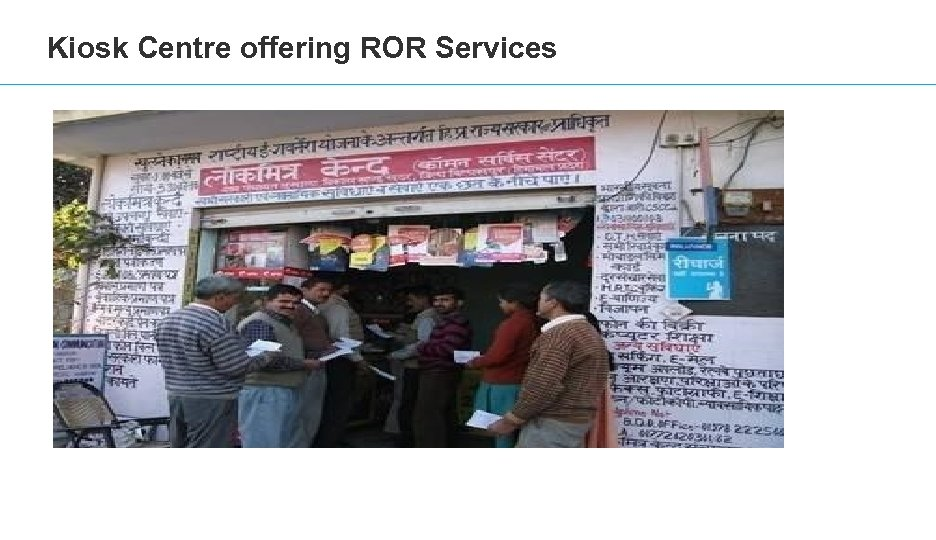 Kiosk Centre offering ROR Services