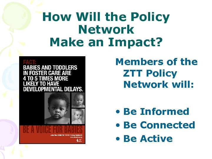 How Will the Policy Network Make an Impact? Members of the ZTT Policy Network