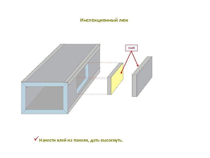 Инспекционный люк Клей üНанести клей на панели, дать высохнуть.