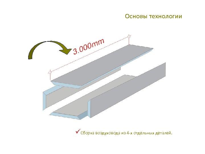Основы технологии üСборка воздуховода из 4 -х отдельных деталей.