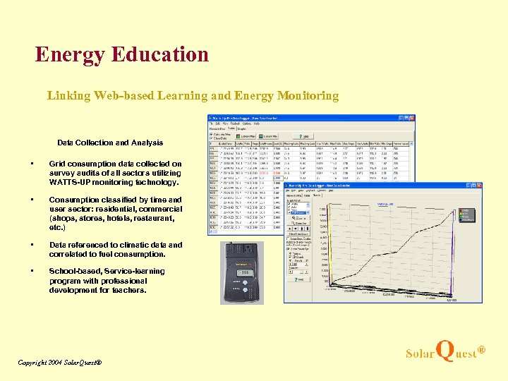 Energy Education Linking Web-based Learning and Energy Monitoring Data Collection and Analysis • Grid