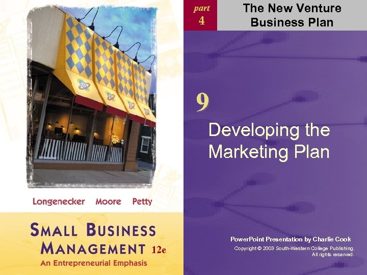 part 4 The New Venture Business Plan 9 Developing the Marketing Plan Power. Point