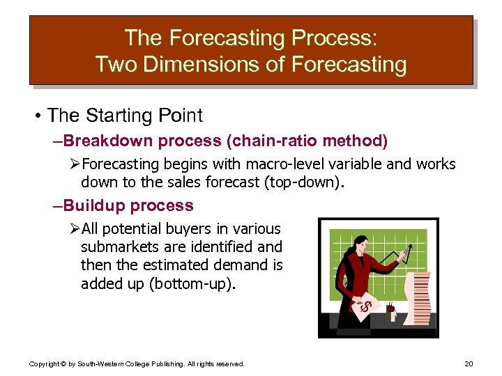 The Forecasting Process: Two Dimensions of Forecasting • The Starting Point – Breakdown process