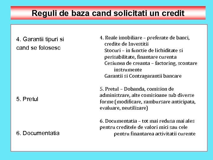 Reguli de baza cand solicitati un credit 4. Garantii tipuri si cand se folosesc