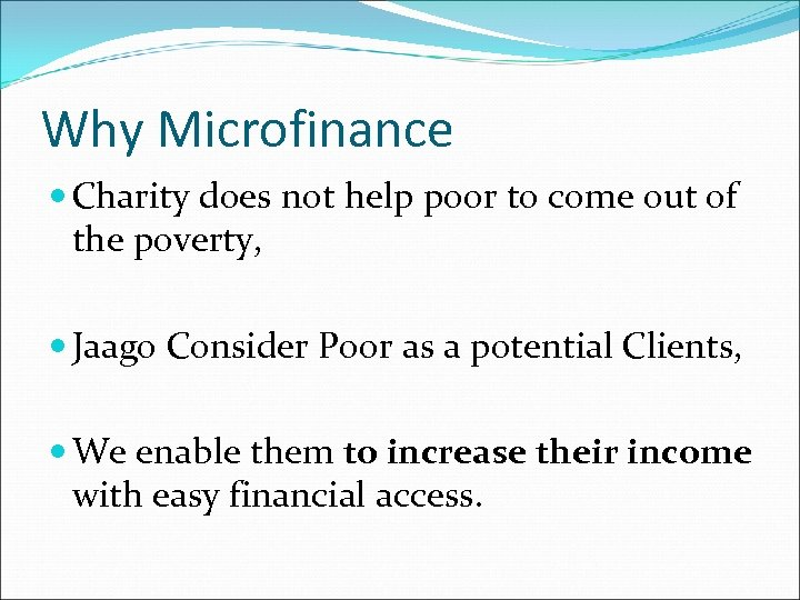 Why Microfinance Charity does not help poor to come out of the poverty, Jaago