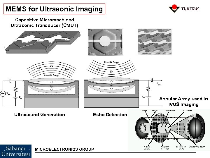 MEMS for Ultrasonic Imaging Capacitive Micromachined Ultrasonic Transducer (CMUT) Annular Array used in IVUS