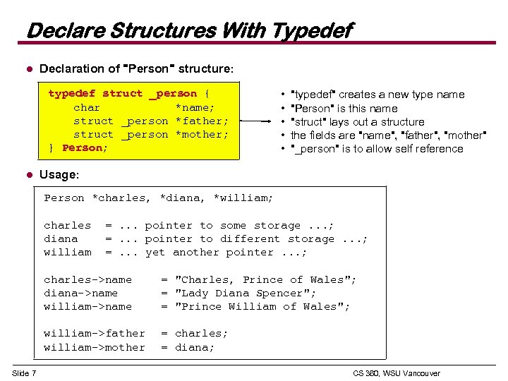 Declare Structures With Typedef l Declaration of