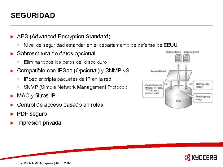 SEGURIDAD AES (Advanced Encryption Standard) § Nivel de seguridad estándar en el departamento de